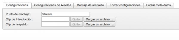 Activar archivo de intro en centovacast