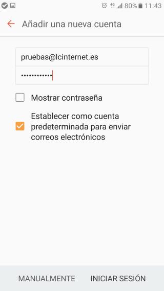 Configurar correo electrónico en Android