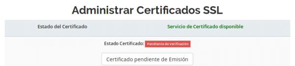 Administrar Certificado SSL