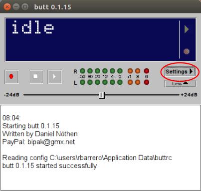 Configuración Radio Streaming con Butt Encoder