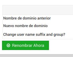 Cambiar nombre de dominio